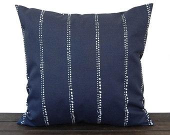 Pillow, Throw Pillow, Pillow Cover, Cushion, Decorative Pillow, Vintage Indigo Navy Blue White Carlo