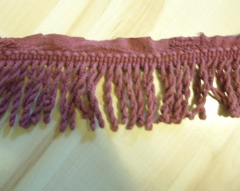 Dark Mauve Salvage Chenille Fringe , Craft, Sewing Progect Fringe   26 Ft    (T)