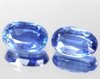6.05 Ct. 2 Piece Natural Kyanite Gemstone Blue Oval