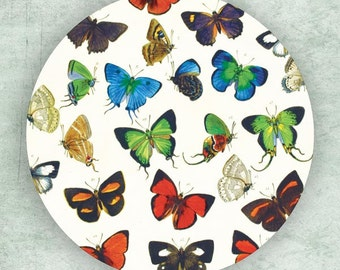 Butterfly group I melamine plate