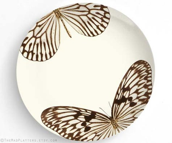 Butterfly brown butterfly melamine plate by themadplatters - Brown butterfly meaning money ...