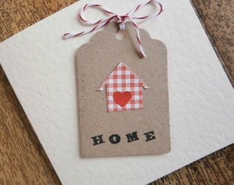 New Home card.Individually made.Change of address or housewarming card