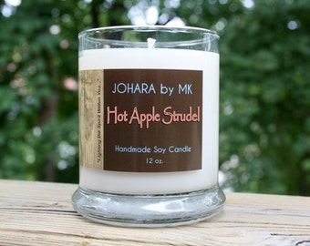 Hot Apple Strudel - Handmade Natural Soy Candle