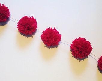 Custom Color & Quantity Pompom Garland