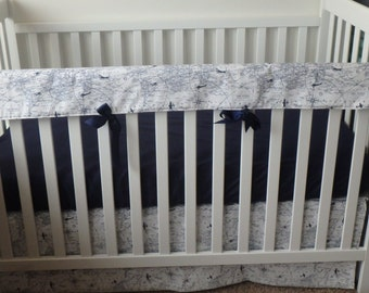 Bumperless Crib Set In Navy Air Traffic
