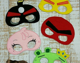 Angry Birds- Angry- Bird- Felt Masks birthday party Favors