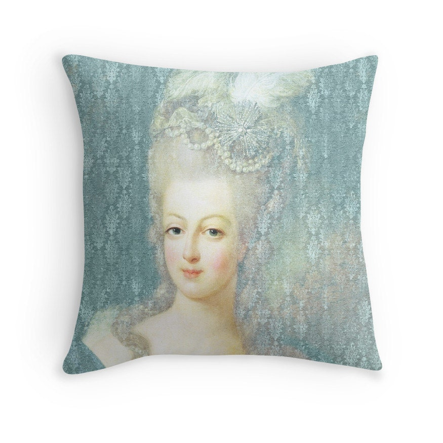Throw Pillow Makeover : Marie-Antoinette Throw Pillow Marie Antoinette decor by RubyandB