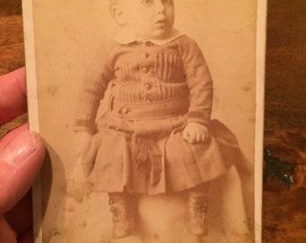 Sepia Baby Photograph Circa 1890
