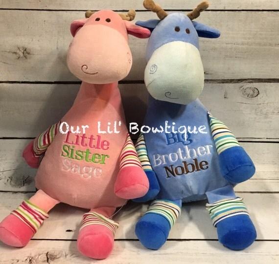 Personalized Stuffed Animal Subway Art Baby Gift Personalized