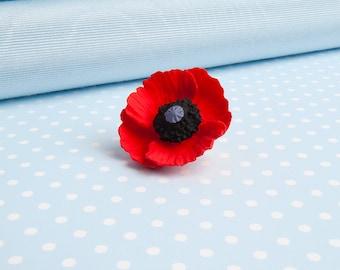 Small Poppy Lapel Pin