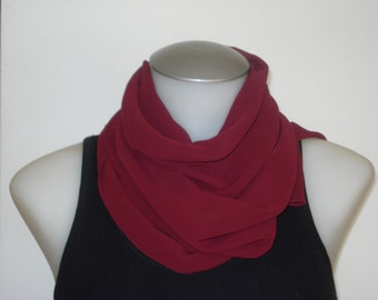 Vintage Long Sheer Scarf - Burgundy Scarves - Womens Fall Summer Fall Accessories