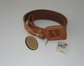 Brown Leather Belt  - Thick, Wide Belt 1X  - UNisex, Mens or Womens Accessories 1990s