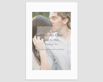 Save the Date Photo Template - No 1