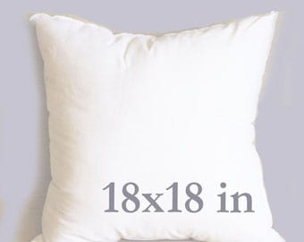 18x18 inch pillow form decorative pillow form add-on pillow cover bed pillow form