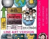 Melonheadz: Plan of salvation LINE ART