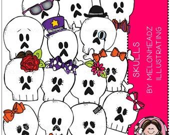 Skulls clip art - Combo Pack