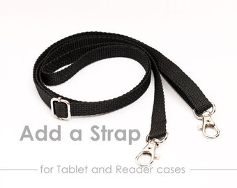 "Add Shoulder Straps to Your Tablet or Reader Case, Removable Crossbody Straps Detachable 5/8"" Wide, Adjustable Length"
