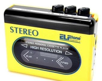 Vintage Elftone Stereo Boy-4 Retro Cassette Tape Player with Headphones