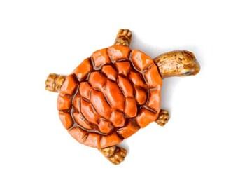 Orange Turtle - Porcelain Tile