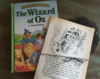 WIZARD OF OZ Pages / 10 Vintage children's book pages for Journals, smash books, altered art mixed media, etc.