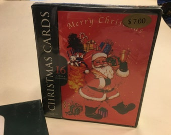 16 Merry Christmas Cards and Envolopes, (BR25)