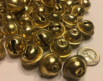 10 brass jingle bell, 15 x 18 mm (HR34)