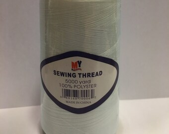 5000 yards of white cone thread (R6)