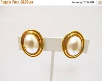 ON SALE NAPIER Faux Pearl Oval Earrings Item K # 2714