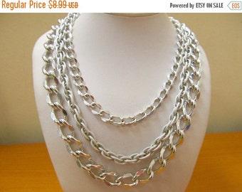 ON SALE Vintage Triple Strand Textured Aluminum Chain Item K # 2546