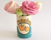 Handmade Ceramic Vase/Cup - Can of Peaches