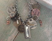 No. 4 Necklace/Industrial/Tags/Mixed Metal