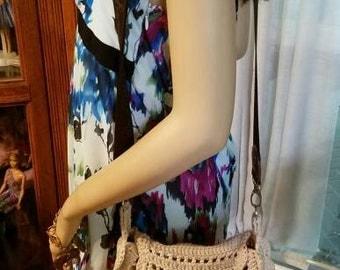 Beautiful & Stylish Bohemian Crocheted Fringed Crossbody Bag