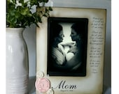 Mother Daughter  Wedding Frame Bride Keepsake Personalize Picture Frame 4x6 A mother holds her daughter's hand  heart forever.