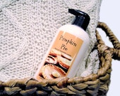 Pumpkin Pie Deluxe Lotion - Body Butter in a Pump Bottle - 8oz - Gourmet luxurious lotion - Holiday Line