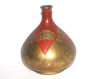 Unique Vintage Italian Vase, Glass Decor, Antique Alchemy