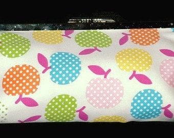 CLUTCH BAG, Orange, Blue, Pink, Green, Apples