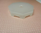 Deco Era Frosted Glass Octagon Lamp Base Vintage Lamp Restoration Repair Parts