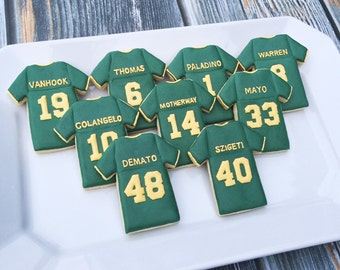 Personalized Football Jersey Cookies