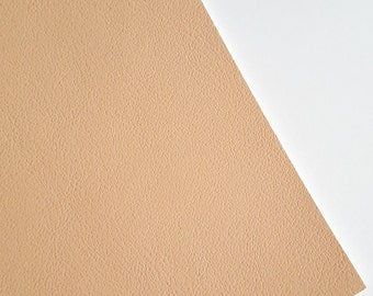 SALE 8x11 Champagne Smooth Faux Leather Fabric Sheet