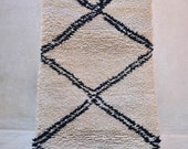 "HERE IS an ISLAND 6'1"" x 2'10"" Boucherouite Rug. Tapis Moroccan. Teppich Berber. Mid Century Modern Danish Design Compliment. FA15-24"