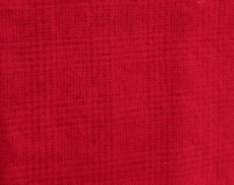 Hand Dyed Felted Wool - Cardinal Red Plaid