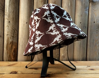 Vintage Brown White Kangol Bucket Hat