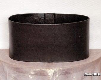 Mandalorian Bounty Hunter Plain Leather Corset Girth Belt