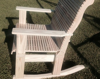 Wood Rocking Chair-Unfinished