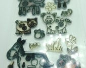 Gently Used Clear Stamps, Farmyard Animal stamps, Stamping Supplies, DESTASH, card making stamps