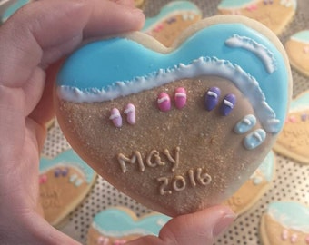 12 Birth/Gender announcement cookie