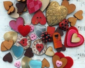 HAPPY HEARTS MIX - 20 Heart Embellishments - Brighten Up Your Valentine's Day Arts and Crafts Projects!