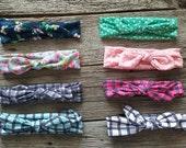 baby girl headband, floral headband, newborn headband, Baby Headbands, Hairbow, Baby Bows, baby girl, cotton bow head band, fabric headband