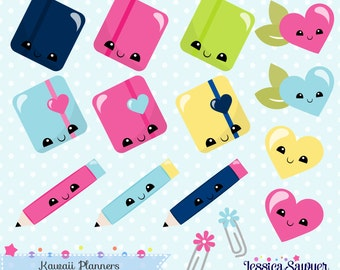 INSTANT DOWNLOAD - Kawaii planner clipart and vectors for planner stickers and crafts