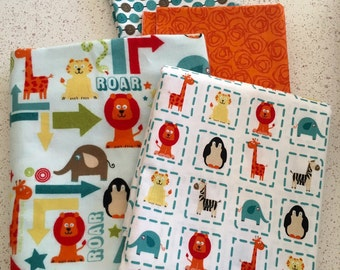 Alphabet Soup Riley Blake Fabric DESTASH Boy 1 yard cotton and 1 yard flannel plus extras